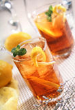 柠檬冰茶 免版税图库摄影