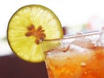 柠檬冰茶 库存照片
