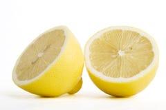 柠檬切了 免版税图库摄影