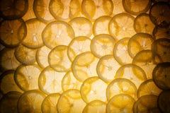 柠檬切开了成切片 免版税库存照片