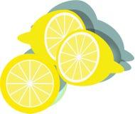 柠檬切片eps象 免版税库存图片