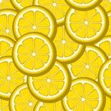 柠檬切黄色无缝的样式 o 皇族释放例证