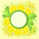 柠檬切黄色 库存图片