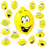 柠檬动画片 库存照片