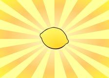 柠檬发光 库存照片
