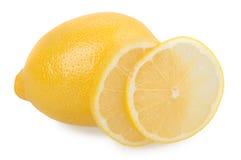 柠檬和切片 免版税库存照片