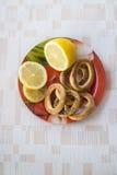 柠檬和曲奇饼 库存照片