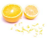 柠檬和桔子 库存照片