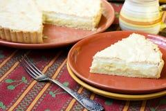 柠檬和椰子蛋白甜饼饼 库存图片