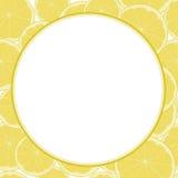柠檬和石灰仿造了文本的空白的框架 免版税库存照片