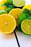 柠檬和石灰 免版税图库摄影