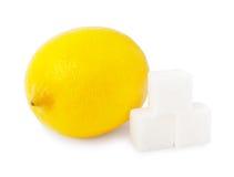 柠檬和糖 免版税库存照片