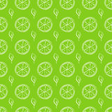 柠檬和薄菏的无缝的样式 免版税库存照片