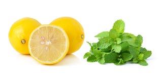 柠檬和薄菏 库存图片