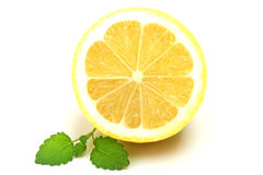 柠檬和蜜蜂花 库存照片