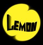 柠檬商标黑色背景 库存照片