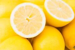柠檬堆 免版税库存照片