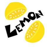 柠檬墙纸例证 免版税库存图片