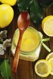 柠檬奶油色凝乳 免版税库存图片