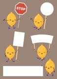 柠檬字符标志 库存照片