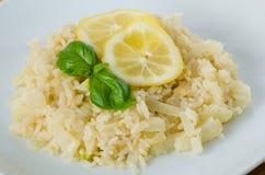 柠檬意大利煨饭 库存照片