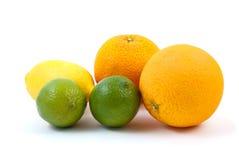 柠檬撒石灰桔子 免版税库存照片