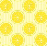 柠檬无缝的墙纸 免版税库存照片