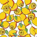 柠檬无缝的背景 免版税库存图片