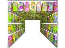 柠檬日本灯笼纸被隔绝的装饰内部艺术  图库摄影