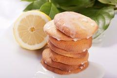 柠檬曲奇饼 库存照片