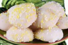 柠檬曲奇饼 免版税库存图片