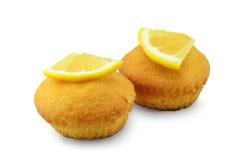 柠檬杯形蛋糕 免版税库存图片