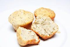 柠檬松饼罂粟种子 库存照片
