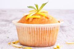 柠檬松饼 库存照片