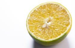 柠檬果子有白色背景 免版税库存照片