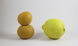 柠檬桔子二 免版税库存照片