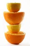 柠檬桔子塔 库存图片