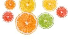 柠檬桔子片式 图库摄影