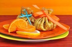 柠檬桔子薄煎饼 库存图片