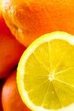 柠檬桔子 库存图片