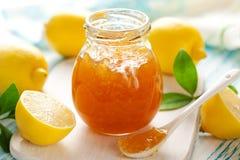 柠檬橘子果酱 库存照片