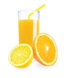 柠檬橙色汁液 免版税库存照片