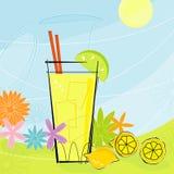 柠檬水减速火箭的夏天向量 免版税图库摄影