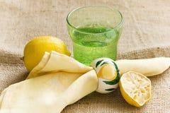 柠檬汁碳酸钠 免版税库存图片