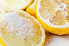 柠檬用糖 免版税库存照片