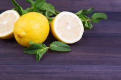柠檬用薄菏 库存图片