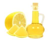 柠檬的油 免版税库存图片