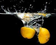 柠檬的部分 免版税库存照片