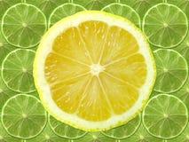 柠檬石灰片式 免版税库存照片
