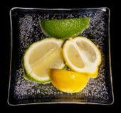 柠檬石灰牌照 免版税库存图片